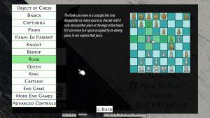 Viele Schachspiele bieten das Regelwerk als Text und Bild an. Hier: Simple Chess.