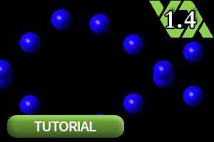 Vectorballs auf Pfaden