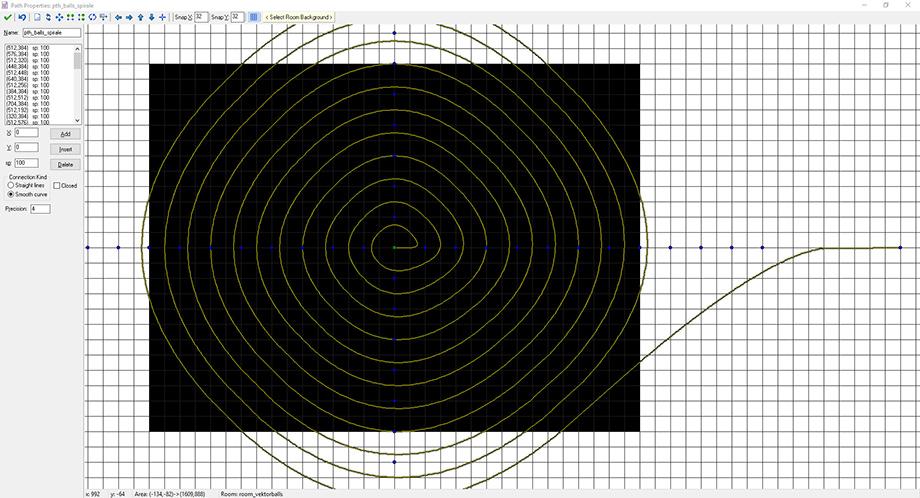 Der fertige, spiralförmige Pfad.